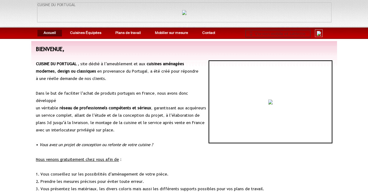 Cuisine du portugal contact for Cuisine en 3d facile